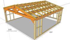 charpente bois garage