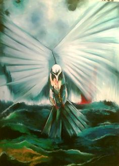 """Creation"" oil on Canvas Blue Painting, Oil Painting On Canvas, Original Artwork, Original Paintings, Bird Wall Art, Home Art, Modern Art, Palette, Canvas Prints"