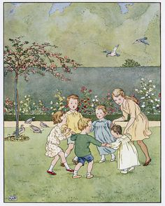 From 'Ring o' Roses: a nursery rhyme picture book', illustrated by L. Leslie Brooke (1863 - 1940)