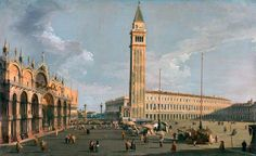 Piazza San Marco Venezia Oleo sobre lienzo Canaletto 1723