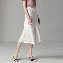 19e2ffdf3c Clothing Accessories · Clothing · Women's Summer Skirts High-grade Solid  Color Wild Bag Hip Slim Long Section A Word