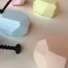 Wooden colorful knobs.It's time to update your decor !