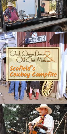 Experience the old American West at Scofield's Cowboy Campfire in Fiddletown. Awesome chuck wagon dinner and live music. Festivals, events and attractions in Gold Country.