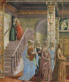 Ghirlandaio -  Life of Mary, birth detail  Firenze, Santa Maria Novella by petrus.agricola, via Flickr  Three generations again