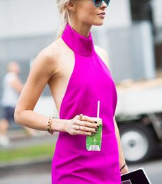 This bright pop of color is eye catching // Photo: Adam Katz Sinding of Le 21ème