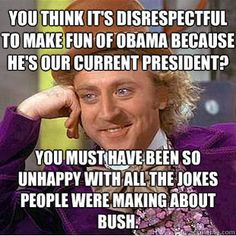 """I love the people complaining about """"it's not just one persons fault....can't just blame him for everything..."""" But those very people did that to Bush....what double standard and BS. Get so sick of hearing people spew double standards. Obama sucks way worse than Bush ever did...get over it and impeach his stupid ass."""