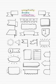 Best Bullet Journal Divider Ideas For 2019 - - Bullet Journal Boxes, Bullet Journal Titles, Bullet Journal Banner, Bullet Journal Notebook, Bullet Journal Aesthetic, Banner Design, Diy Cahier, Banner Drawing, Note Doodles