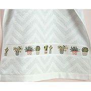 Handtuch Vintage  Handtuch, 50 x 100 cm, 100 % Baumwolle, mit zwei eingewebten Aidafeldern (4 cm hoch, 25 Stiche, 5,4 Stiche/cm) zum Besticken Farbe: BLAU #Kreuzstich Kreativ