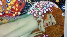 Serpenti d'acqua di Klimt. Dettaglio della copia dell'opera dell'artista. http://www.tuttiquadri.it/klimt/serpenti-acqua.htm