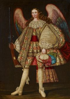 Cuzco School (Peru), 17th century. Archangel with Rifle.