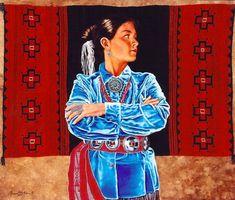 Walks in Beauty by Marianne Millar kp American Indian Art, Native American Indians, Native Americans, Navajo Art, Southwest Art, Cuisines Design, People Art, Native Art, Western Art