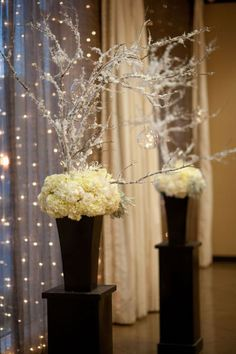 altar arrangements - perfect for christmas wedding
