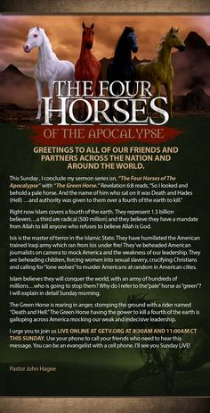 """""""The Green Horse"""" this Sunday, September 6, 2015 LIVE online at GETV.org!"""