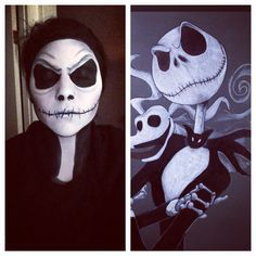 Jack Skellington and Sally / Halloween / Tim Burton / Makeup / DIY ...