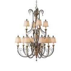 Phoenician Court 12 Chandelier in Silver Umber $1900  | Nebraska Furniture Mart