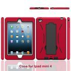Boonix Apple iPad Mini 4 Case Dual Layer Case Shockproof Bumper w/ Kickstand NEW