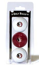 Florida State Seminoles 3 Pack of Golf Balls