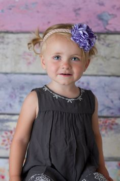 Lavender Satin Flower Headband-Flower Girl Headband-Photo Prop-Special Occasion-Birthday Headband-Baby Headband-Purple flower headband on Etsy, $8.00
