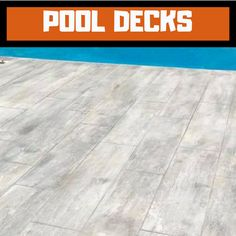 Commercial, Residential, Stained Concrete Flooring Concrete Floors In House, Concrete Pool, Wood Stamped Concrete, Stained Concrete, Deck Patterns, Lake Landscaping, Decking Material, Pool Chemicals, Wood Grain Texture