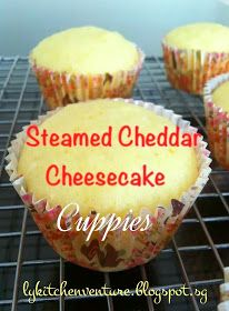 Steamed Cheddar Cheesecake Cuppies