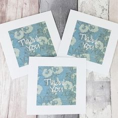 Thank you card with blue flowers, Individual or pack of floral thank you cards, Handmade thank you cards, Modern script, With thanks card Baby Girl Cards, New Baby Cards, Handmade Thank You Cards, Greeting Cards Handmade, Birthday Card With Name, Birthday Cards, Thanks Card, Hand Logo, Cat Cards