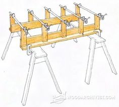 Clamping Table - Panel Glue Up Tips, Jigs and Techniques | WoodArchivist.com