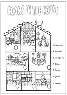 fichas partes de la casa en ingles primaria - Buscar con Google