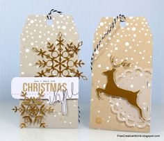 Pia's Creative World: Gift Tags ready for Christmas *Revisited*