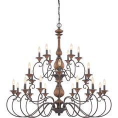 Auburn 24 Light Candle Chandelier