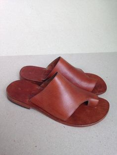POSEIDON : Leather Slide Handmade leather sandals Genuie image 3