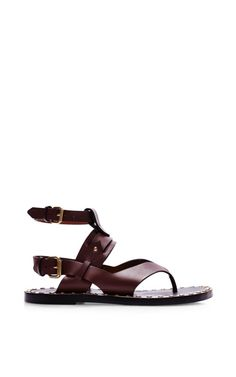 Circus Maximus Justy Shoes In Burgundy by Isabel Marant for Preorder on Moda Operandi