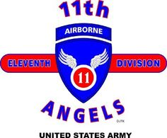 "11TH AIRBORNE DIVISION * ANGELS * U.S. MILITARY CAMPAIGNS LAMINATED PRINT ON 18"" x 24"" QUARTER INCH THICK POSTER BOARD"