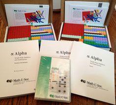 Homeschooling 3: Math U See - Alpha ~ Schoolhouse Review