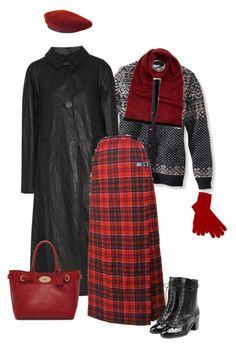 """Hat & Gloves in Red for Winter"" by maxfield ❤ liked on Polyvore featuring L.L.Bean, Lemaire, Pringle of Scotland, Laurence Dacade, Hermès and Mulberry"