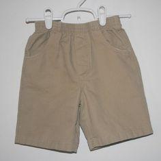 Boys Shorts with Elastic Waist Size 4 - 100% Cotton Tan - Kids Headquarters  #KidsHeadquarters #DressyEveryday