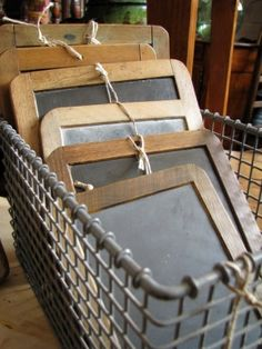 schoolhouse slate boards-love these and use them in the kitchen, office or guest room!