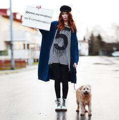 Cubus Cardigan, 5preview T Shirt, Old Boots, 2hand Cap, Motel Rocks Pants, #Villezingmark Ville Zingmark