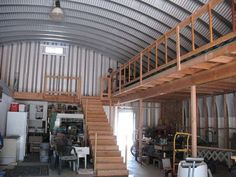 Putting Shelves In A Quonset Hut For A Garage   Google Search
