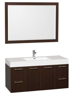 Amare Wall Mounted Vanity with Standard Depth