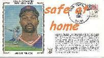 """NY METS 25TH ANNIVERSARY 1ST DAY ISSUE CACHET """"MOOKIE WILSON"""""""