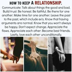 How to keep a relationship.