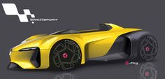 Renault / Here are some free time Sketches & Illustrations Car Design Sketch, Car Sketch, Futuristic Cars, Futuristic Design, Alpine Renault, Cars And Coffee, Car Drawings, Transportation Design, Future Car