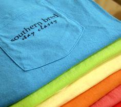 $20.00 Southern Bred - Stay Classy T Shirt. Mango, Yellow, Blue,