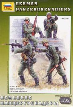 zvezda german panzergrenadiers wwii - Modeledo.pl