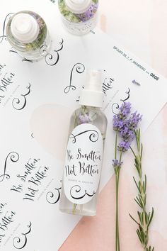 DIY bug spray wedding favors