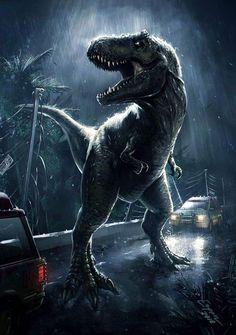 T Rex Jurassic Park, Jurassic Park Poster, Jurassic Park World, Dinosaur Images, Dinosaur Pictures, Dinosaur Art, Jurrassic Park, Park Art, Science Fiction