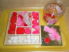 Lots of Valentine's Tray Activity Ideas on this Post!