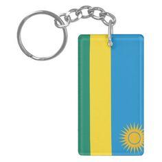Flag of Rwanda Double-Sided Rectangular Acrylic Key Ring Rwanda Flag, Political Events, National Flag, Business Supplies, Invitation Cards, Art For Kids, Wedding Gifts, Create Yourself, Art Pieces