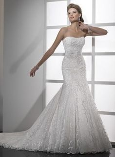 Le And Y Lace Fishtail Wedding Dress Stunning Dresses White