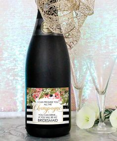 items similar to will you be my bridesmaid champagne bottle labels diy printable champagne labels bridesmaid proposal bridesmaid gift free champagne